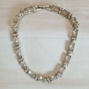 Vintage Avon Silver Rhinestone Tennis Bracelet